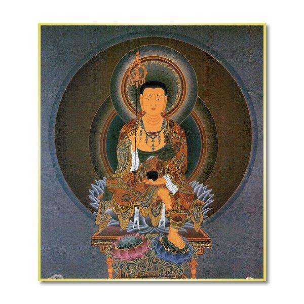 画像1: 仏画色紙 地蔵菩薩 (1)